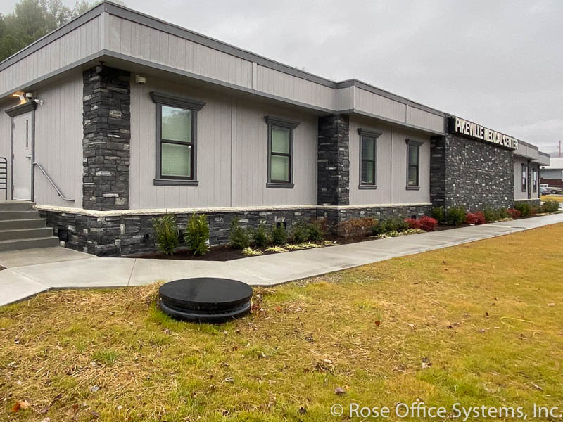 modular building used as medical clinic