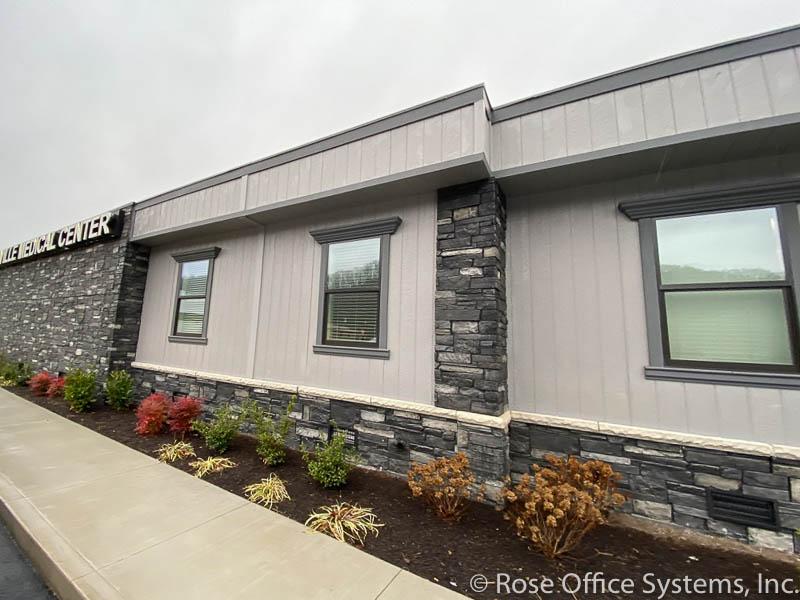 Modular Medical Clinic with rock corners