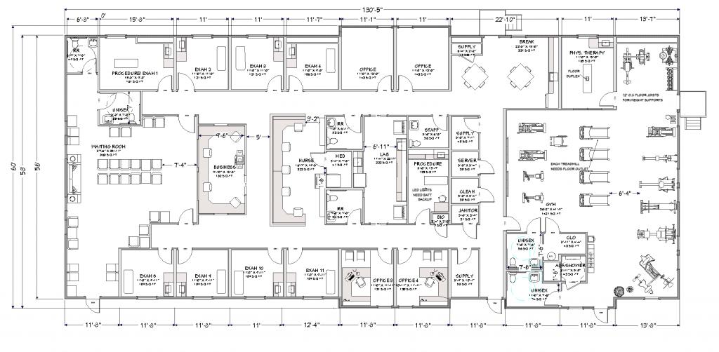 Modular Medical Clinic Floorplan